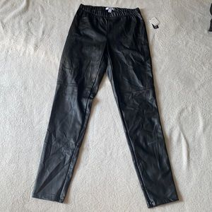 Bar III Faux Leather Pull Up Pants S